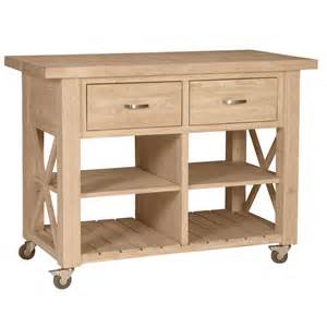 Kitchen Rolling Island X Side Rolling Kitchen Island With Butcher Block Top