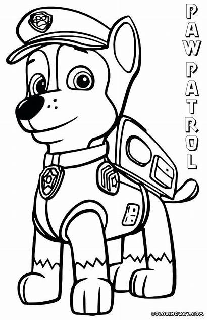 Paw Patrol Chase Coloring Pages Colouring Skye