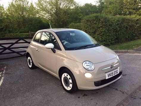 Fiat 500 Colors by 2015 Fiat 500 Colour Therapy Beige Stop Start 18 000