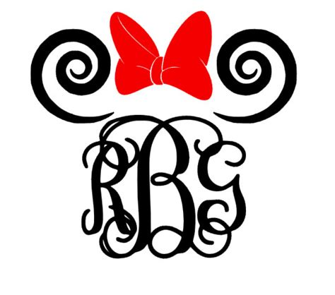 minnie mouse vine monogram by gracielyndesigns on etsy