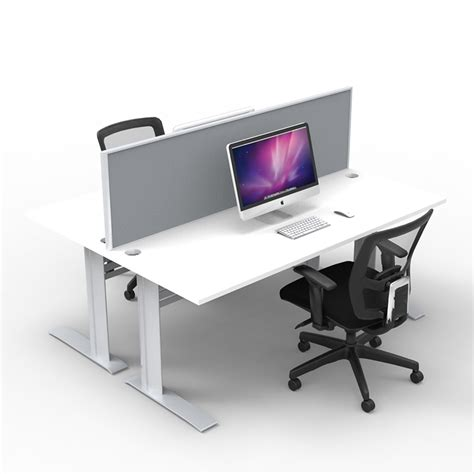 two desks rapid 2 x person workstation to with screen