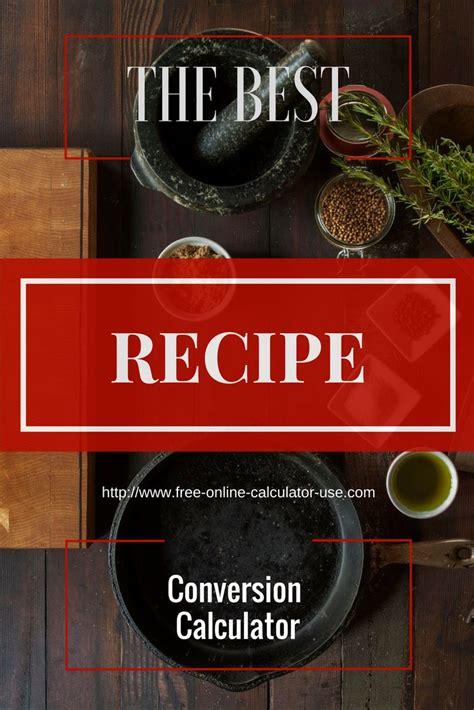 free online recipe converter calculator