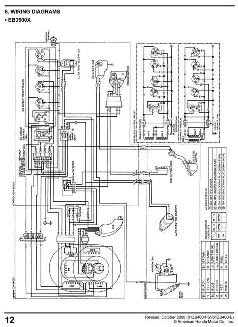 Wiring Diagram For Honda Generator by Honda Eg3500 Eg5000 Generator Service Repair Shop Manual