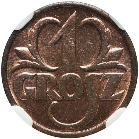 1 grosz 1939 - NGC MS65 RB