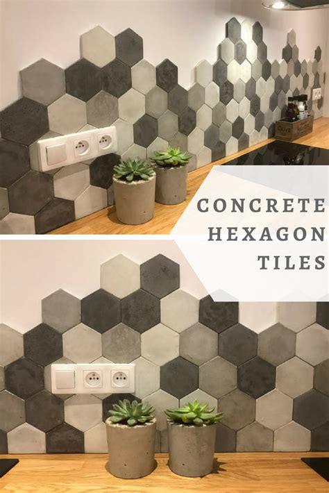 love  concrete hexagon tiles   kitchen