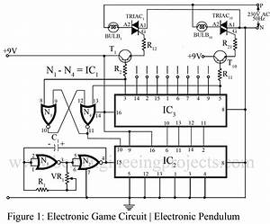 electronic game circuit electronic pendulum With electronic projects