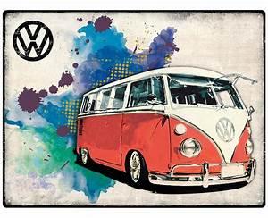 Vw Bus Bulli Kaufen : vw bus bulli camper grunge red blechschild 30x40cm kaufen ~ Kayakingforconservation.com Haus und Dekorationen