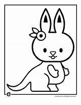 Kangaroo Coloring Drawing Pages Clipart Draw Kangaroos Panda Animal Getdrawings Hamster Library Popular sketch template