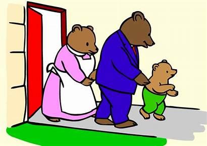 Goldilocks Bears Three Clipart Walking Svg Clipartmag