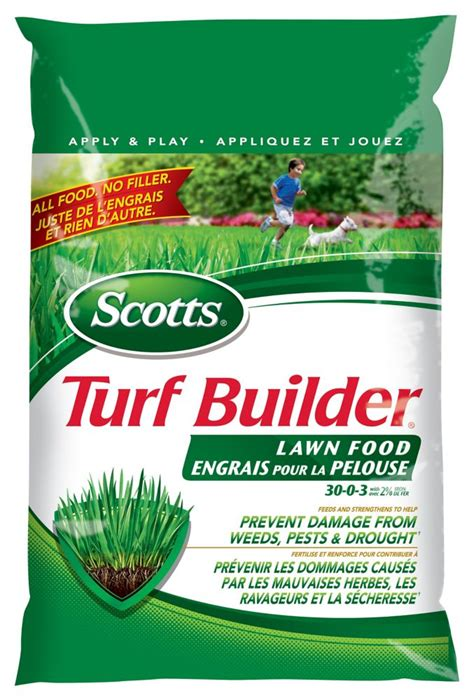 scotts scotts turf builder lawn fertilizer 30 0 3 1114m2