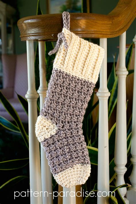 crochet pattern cozy cottage christmas stocking