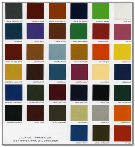 Dupont Car Colours by Dupont Paint Color Chart The