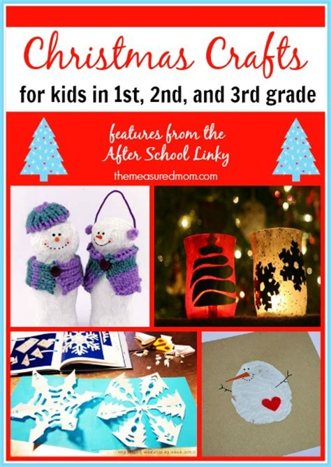 christmas crafts for first second and third graders