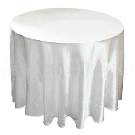 round white table cloth 20pcs wholesale white 50 120 quot round polyester plain table