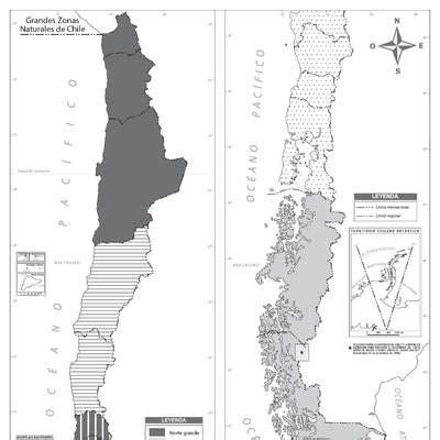 Mapa zonas naturales de Chile Curriculum Nacional