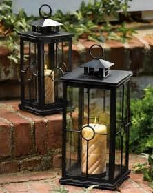set of 2 garden candle lanterns
