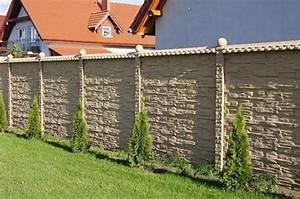 4 meter mediteraner betonzaun windschutz sichtschutz With französischer balkon mit garten schallschutz