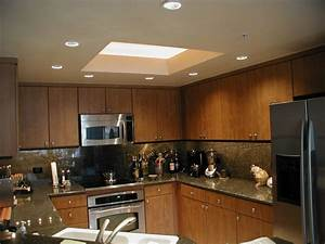 Recessed lighting the top kitchen