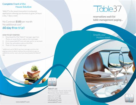 Software For Designing Brochures by Serious Modern Restaurant Brochure Design For A Company