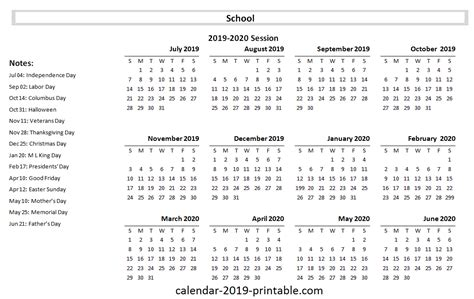 school yearly calendar calendars academic calendar