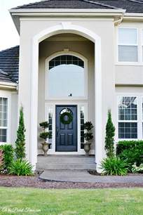 White House Door Color for Stucco
