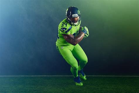 nfl reveals action green color rush uniform  seahawks