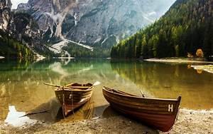 Boats, Nature, Lake, Mountain, Hd, Wallpaper, 29075