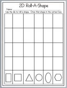 2D Shapes Worksheet Kindergarten