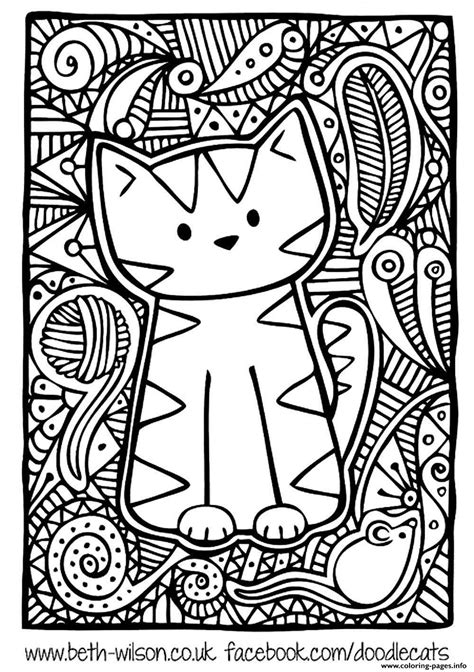 print adult difficult cute cat coloring pages programs