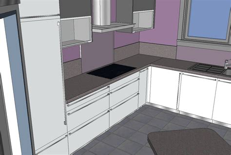 sketchup cuisine mob ossature bois isolation energie domotique