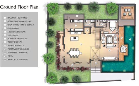 luxury kitchen floor plans luxury villa for in goa sea facing villas side 7305