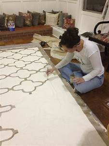 Create a simple summer floor cloth daley decor with for How to paint a floor cloth