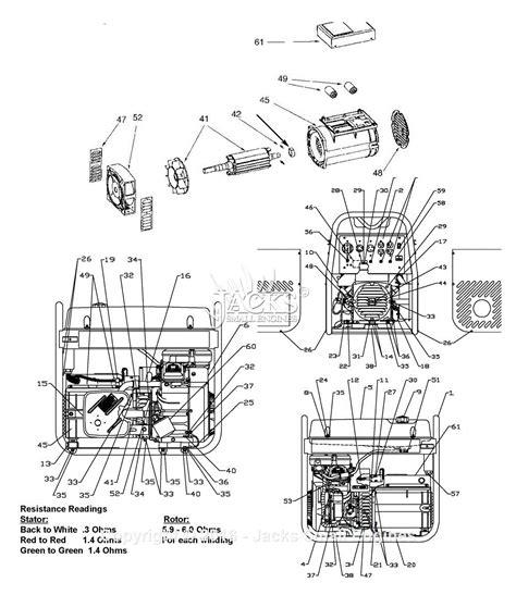 Coleman Powermate Generator Wiring Diagram by Powermate Formerly Coleman Pm0612023 Parts Diagram For