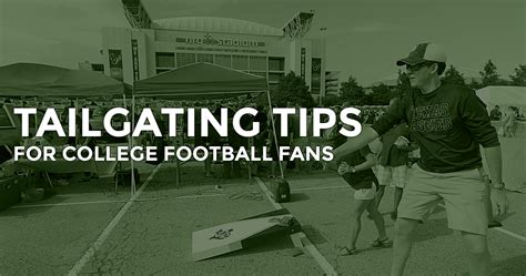 10 tailgating tips for college football fans