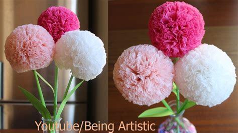 tissue paper flower diy paper craft
