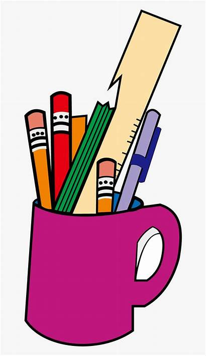 Clipart Stationery Pencil Bucket Case Drawing Clipartkey