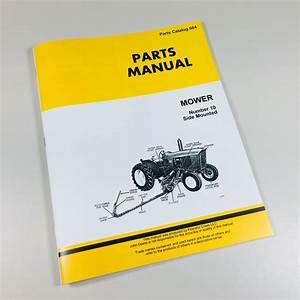 Parts Manual For John Deere Number 10 Side Mount Sickel