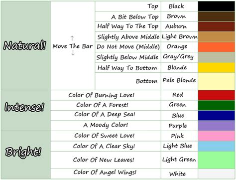 acnl hair color guide animal crossing pinterest