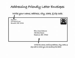 Letter envelope format gallery for Letter envelope address template