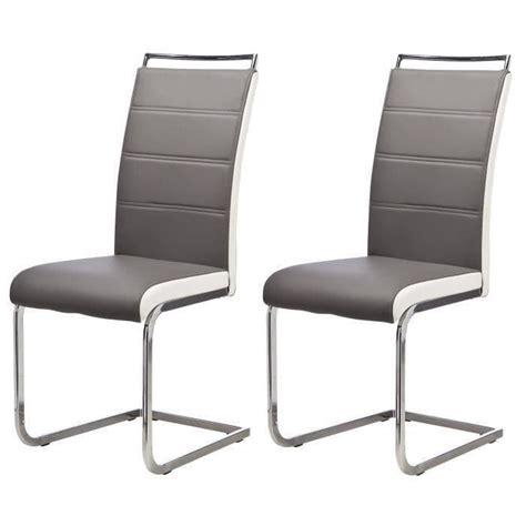 6 chaises de salle a manger lot de 6 chaises de salle à manger gris blanc