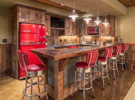 kitchen cabinets in bc lake house barnwood bar rustikt hjemmebar 8091