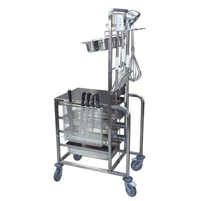 chariot de cuisine chariot multifonctions de cuisine professionnelle sanipousse