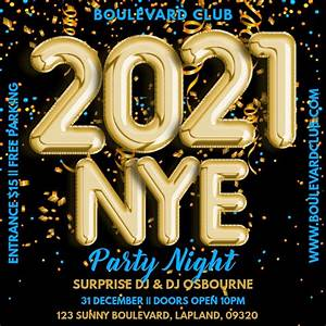 Copy of New Years Eve 2021 Party Template | PosterMyWall