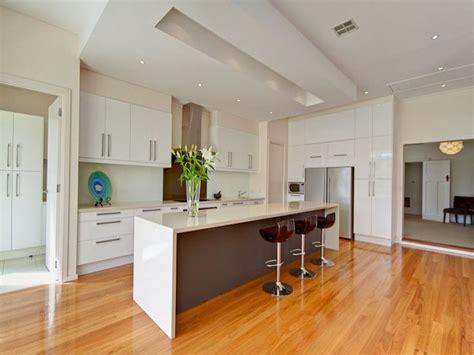 Island Pantry Modern Island Kitchen Design Using Floorboards Kitchen