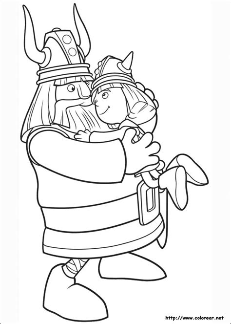 dibujos  colorear de vicky el vikingo