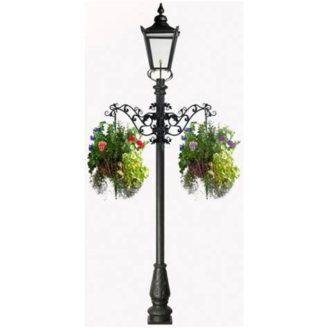 Solar Lamp Posts For Driveways by Victorian Garden Lamp Post With Flower Basket Arms
