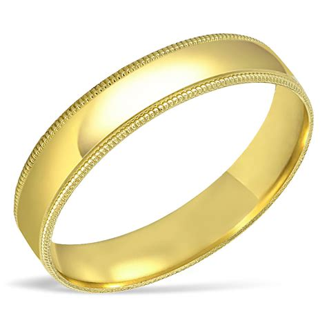 men s solid 10k yellow gold wedding band engagement ring