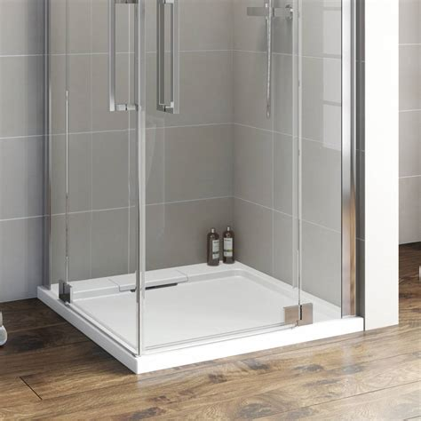 designer square stone shower tray    victoriaplumcom
