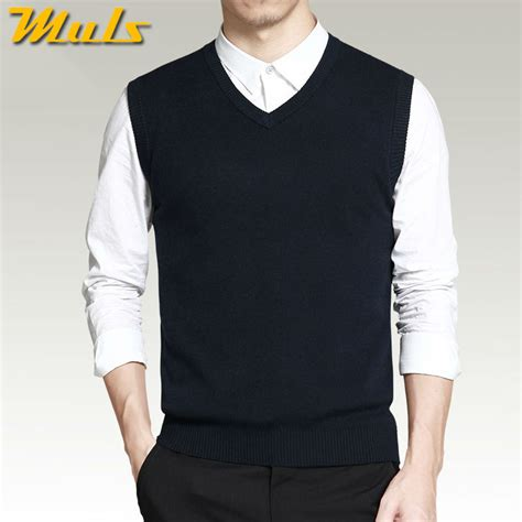 mens sweater vest vest sweater casual style woolen knitted business