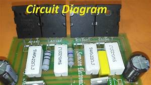 Transistor Circuit Diagram Of 2sa1943 And 2sc5200  How To